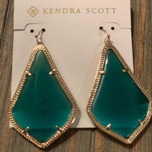 Kendra Scott Green Alexandra earrings
